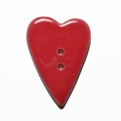 Botón Corazón Rojo
