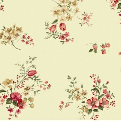 Tela Crema Flores