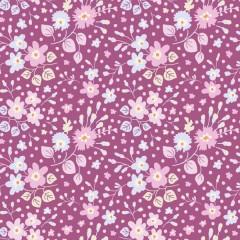 Tela Morada Confeti Flores