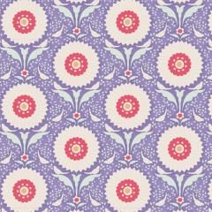 Tela Azul Flores de Anillo