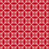 Tela Roja Geométrica Plumas