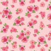 Tela Rosa Hibiscus