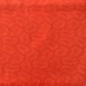 Paisley Orange Fabric