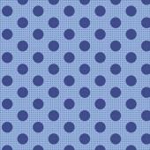 Tela Puntos Medianos Azul Vaquero