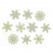 Botones Copos de Nieve Brillantes