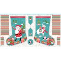 Panel Calcetin Navidad Let It Snow