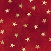 Tela Roja Estrellas