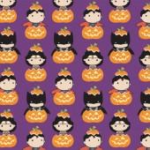 Tela Morada Kawaii Halloween