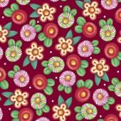 Tela Roja Arándano Flores Navidad