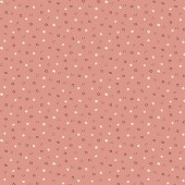 Tela Rosa Mini Puntos y Cuadrados