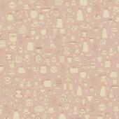 Tela Rosa Tazas de Té y Teteras