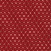 Flowers Geometric Red Fabric