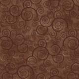 Tela Marrón Oscuro Espirales