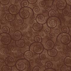Tela Franela Marrón Espirales