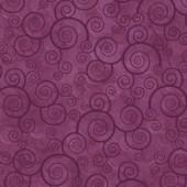 Tela Morada Ciruela Espirales