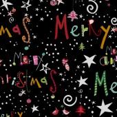 Tela Negra Merry Christmas