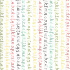 Tela Abecedario Colores