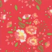Tela Roja Flores