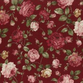 Roses Red Fabric