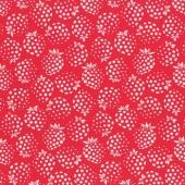 Tela Roja Fresas
