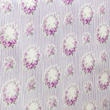 Tela Japonesa Blanca Lineas Violetas Rosas