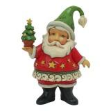Adorno Mini Santa con Arbol
