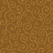Scrolls Brown Fabric