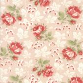 Tela Rosa Flores Jardines Kensington