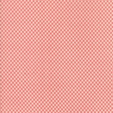 Tela Marfil Cuadros Rojo