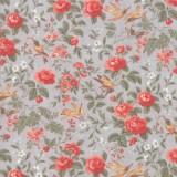 Tela Plata Flores