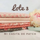 Lote 3 Fat Quarters Sanctuary