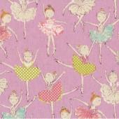 Ballerinas Violet Linen