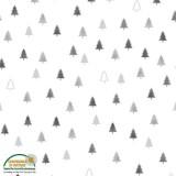 Tela Blanca Árboles de Navidad Pequeños