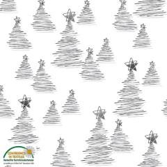 Tela Blanca Arboles de Navidad