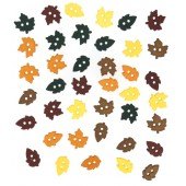 Small Fall Leaves Buttons
