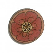 Botón Flor Roja