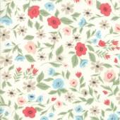 Tela Blanca Jardin Flores