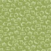 Tela Verde Caras Gatos