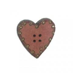 Botón Corazón Rosa