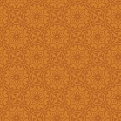 Tela Naranja Medallones