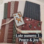 Lote 1 Telas Fat Eights Peace and Joy