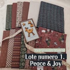 Lote 1 Telas Medios Metros Peace and Joy