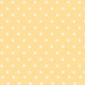 White Dots Yellow Fabric