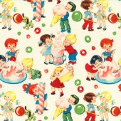 Candy and Children Cream Fabric