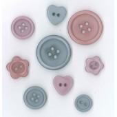 Botones de Plástico Wildflower Wood