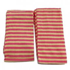 Tejido Tubular Rosa y Amarillo Rayas