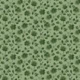 Tela Verde Flores