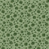 Flowers Green Fabric