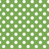 Tela Verde Puntos Blancos