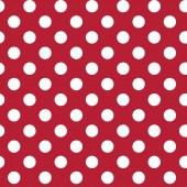 Tela Roja Puntos Blancos